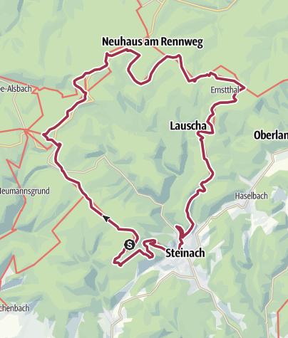 """Map / Rundwanderung - """"Sechs-Kuppen-Steig"""" - Steinach - Thüringer Wald"""