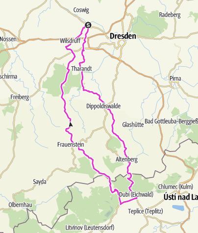 Map / Tour 5, Niederwartha-Tschechien