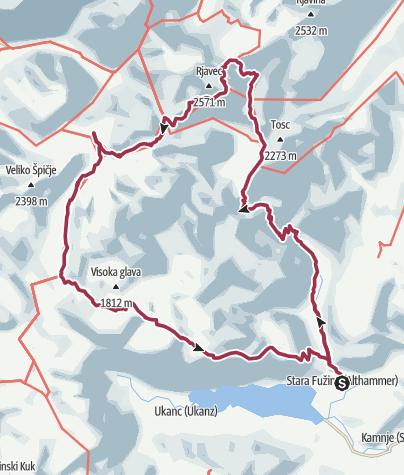 Map / Triglav 5 Tage