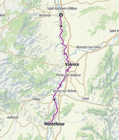 Carte / AF.13 Von Andancette nach Rochemaure