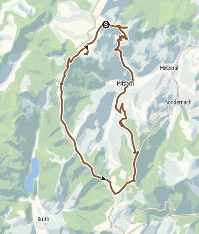 Carte / Gipfeltour ohne Anstieg zum Hohneck