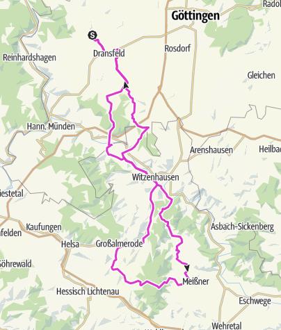 Karte / Hoher Meißner