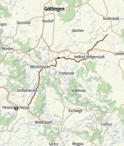 Karte / Hessisch Lichtenau - Berlingerode