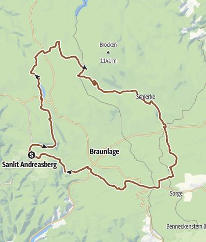 Karte / Von St.  Andreasberg rund um Braunlage