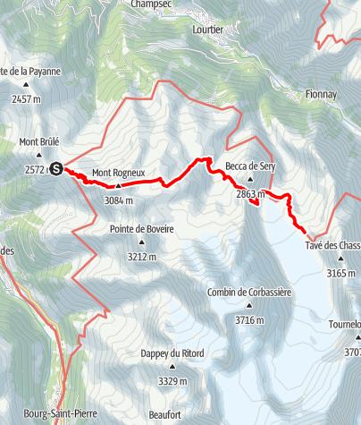 Kaart / Tour des Combins - Etappe 2