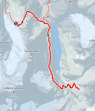 Kaart / Tour des Combins - Etappe 3