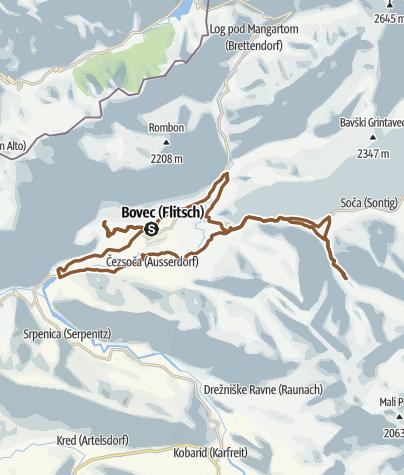 Map / Bovec MTB