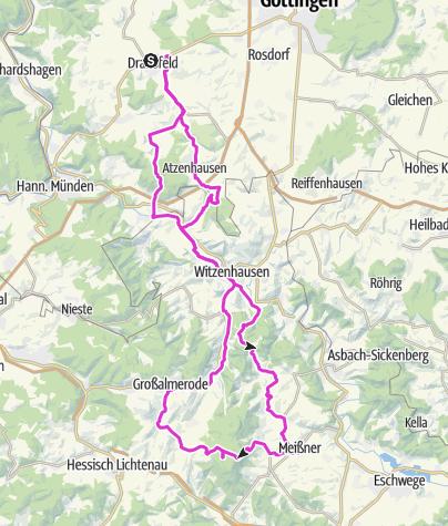 Karte / ASV Hoher Meißner Stoppomat