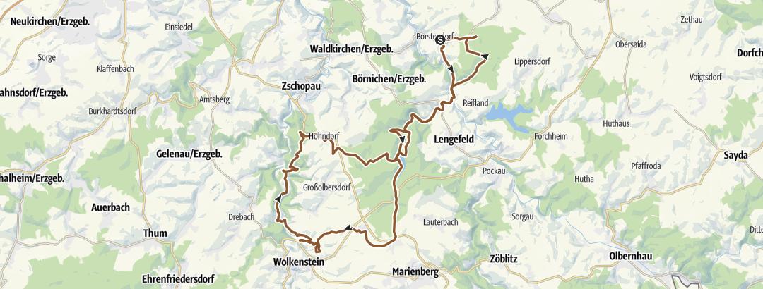 Mapa / Borstendorf - Scharfenstein