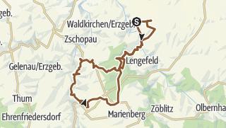 Karte / Borstendorf - Scharfenstein