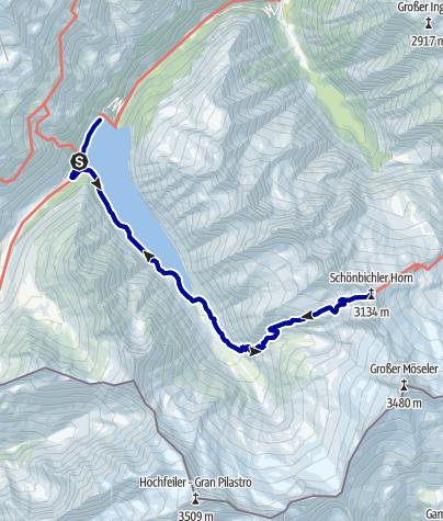 Kaart / 15.8.2008Schönbichler Horn (3134m)
