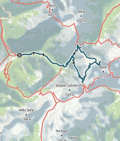 Karte / Triglav Tour am 3.10.2016
