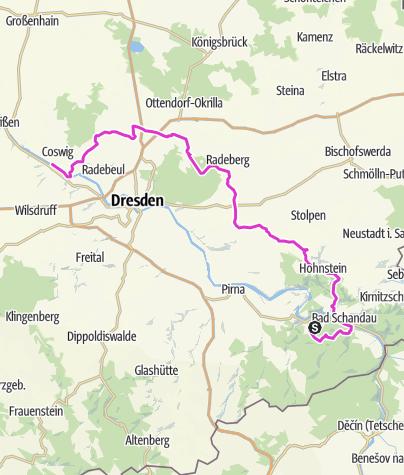 Karte / Tour 7: Sächsische Schweiz-Elbland