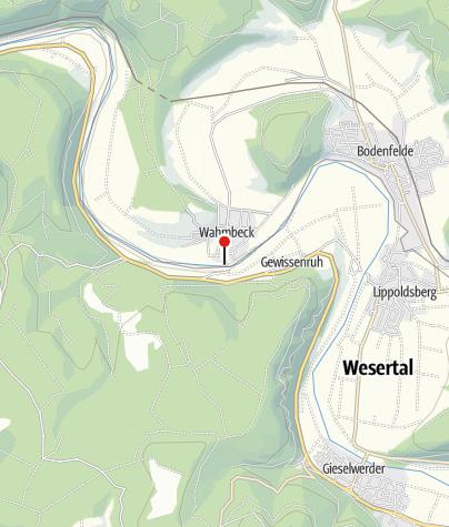 Karte / Auto-und Personenfähre Wahmbeck-Gewissenruh