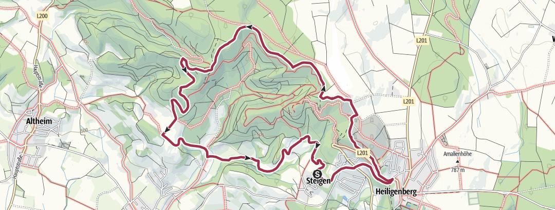 Karte / Aussichtspunkte westlich von Heiligenberg