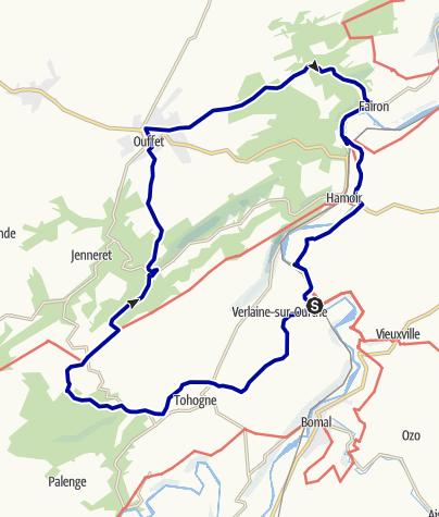 Kaart / Sy-Ouffet-Sy 30,9 km