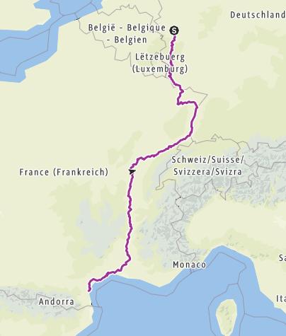 Carte / Von der Erft an`s Mittelmeer
