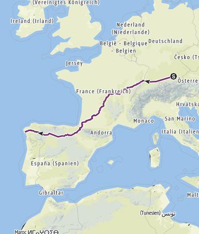 Carte / Jakobsweg München-Noia