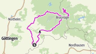 Karte / Duderstadt - Brocken - 156km
