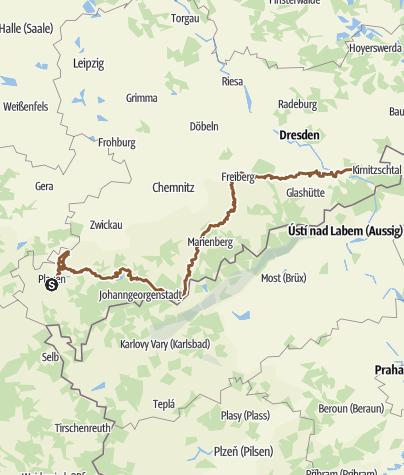 Karte / Sachsentour