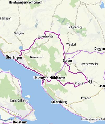 Karte / Bermatingen - Salem-Überlingen-Unteruhldingen-Bermatingen