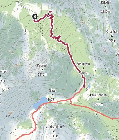 Map / SLO W29 Lepena - Krn hut