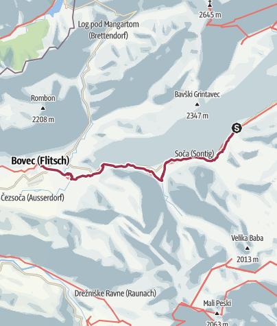 Karte / SLO W24 Soca Trail