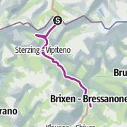 Map / Brennerradroute Brenner - Bozen – Etappe 1: Brenner - Brixen
