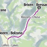 Map / Brennerradroute Brenner - Bozen – Etappe 2: Brixen - Bozen