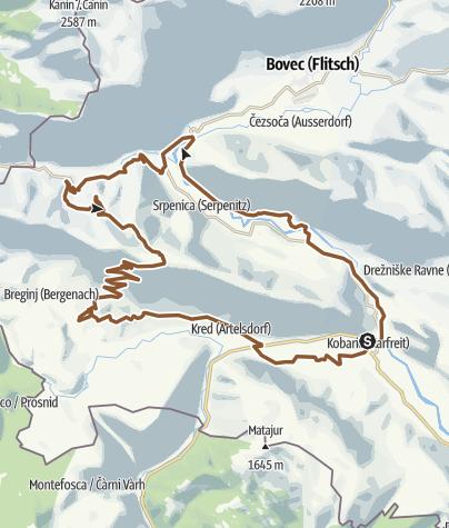 Map / Stol-Nord-Süd