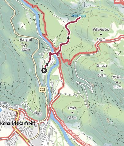 Map / Водопад Коз я к