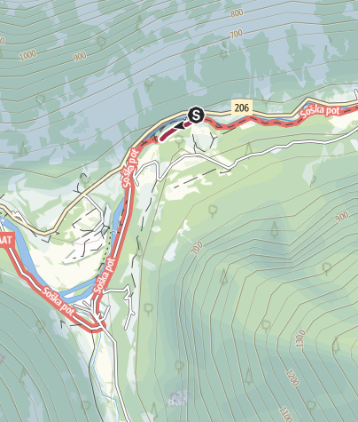 Map / Прогулка к  Soča Schlucht