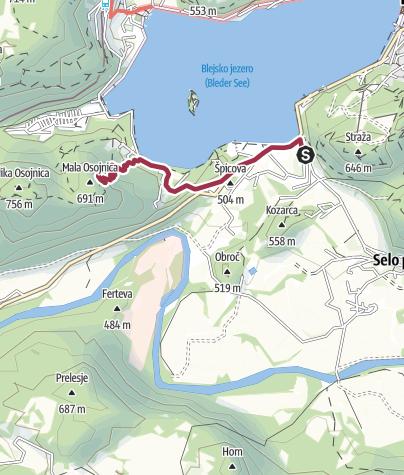 Map / Малая Осойница
