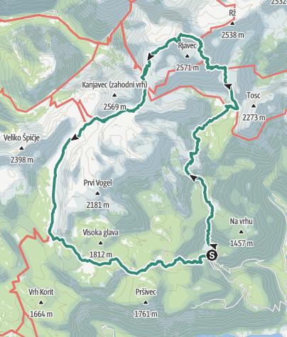 Map / Triglav 31. Juli 2017