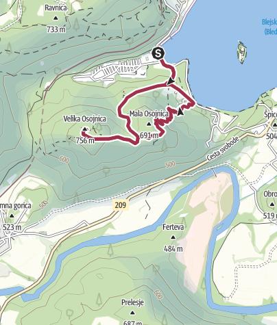 Zemljevid / Bled