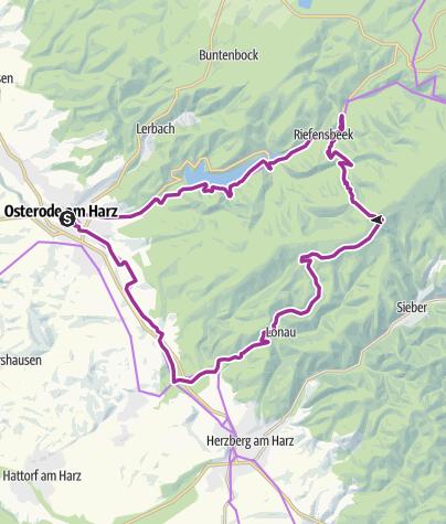 Karte / Tourenplanung am 5. August 2017