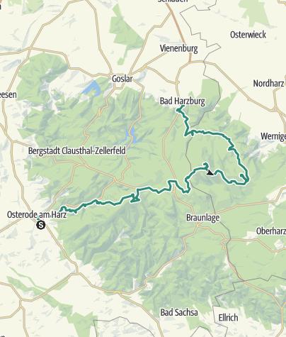 Karte / Von Osterode nach Bad Harzburg