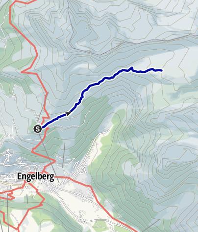 Kaart / Rugghubelhütte Zustieg ab Ristis