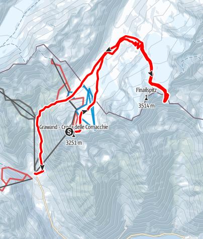Kaart / Skitour zur Ötzi Fundstelle