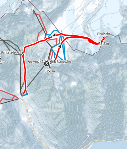 Kaart / Skitour zur Finailspitze
