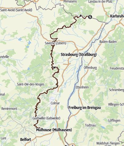 Carte / VOGESEN Wissembourg - Thann