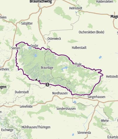 Karte / Harztour 2018