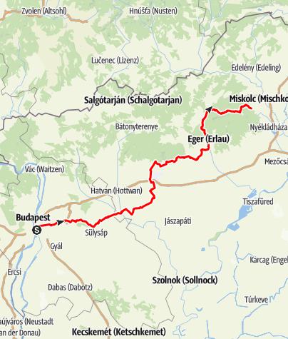 Map / BP-Dány-Jászfényszaru-Gyöngyös-Eger-Miskolc