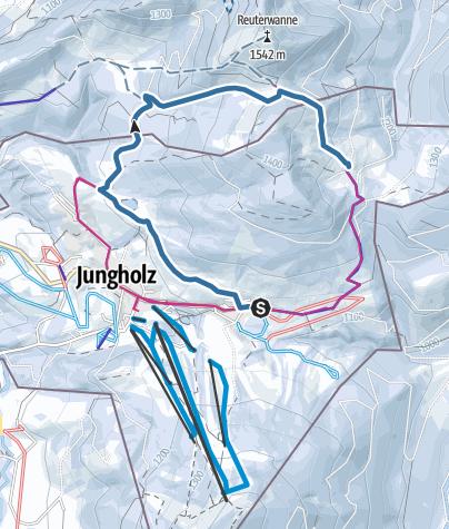 Map / Schneeschuhtour Jungholz-Stubentalalpe 18.02.2018