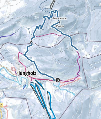 Map / Schneeschuhtour Jungholz-Blässe-Pfeifferberg - Stubentalalpe-Jungholz