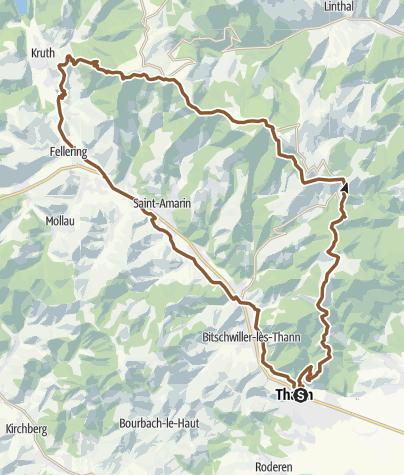 Carte / F / VOSGES Thann - Ballon D`Alsace - Oderen - Thann