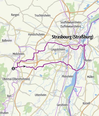 Carte / Rosheim Rhin Kehl Canal Bruche Rosheim