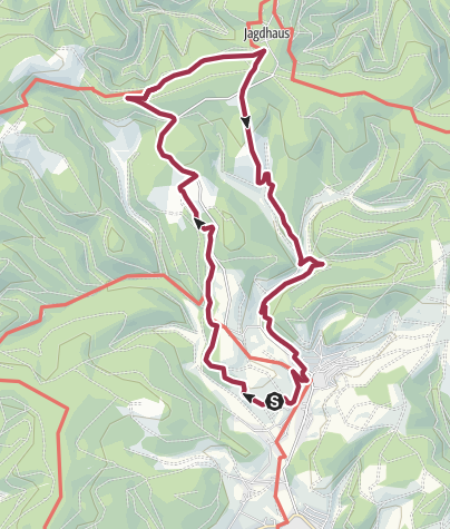 "Map / ROTHAARSTEIG TRAIL ""Wisentpfad"" (""Wisent path"")"