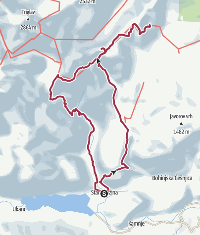 Map / Triglav NP tura jun. 2-3.