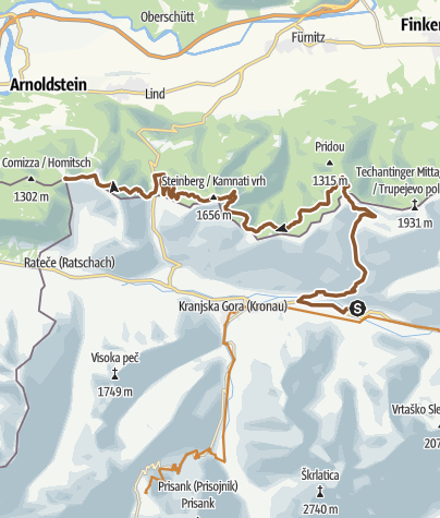 Map / Gozd Martujek-3Ländereck